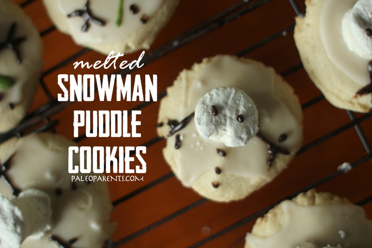 Melted Snowman Puddle Cookies on PaleoParents