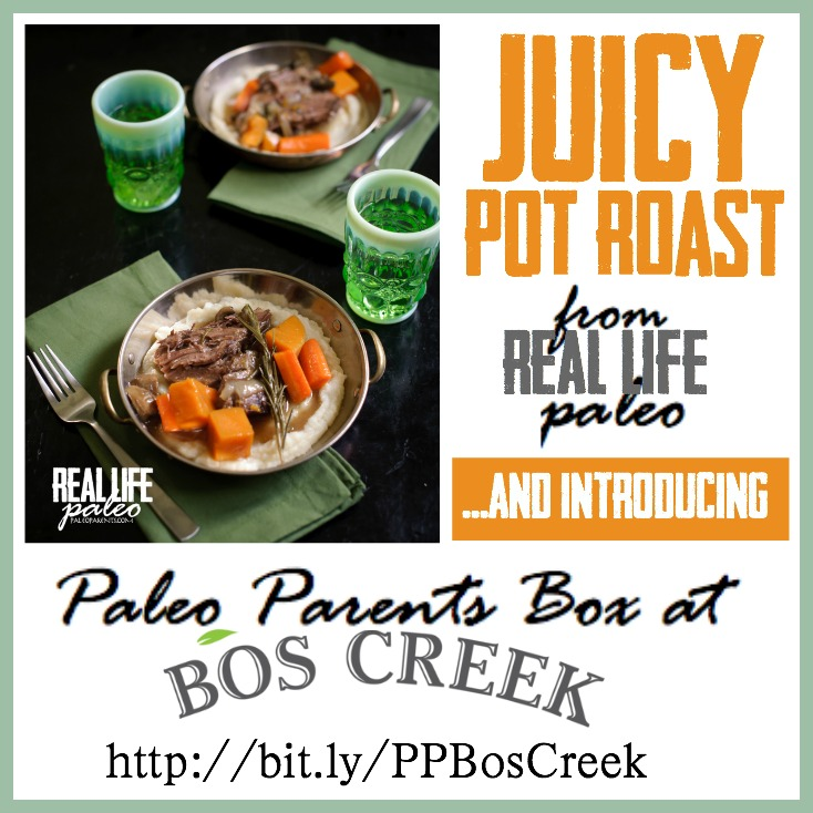 Juicy Pot Roast from Paleo Parents and Bos Creek Meat Box