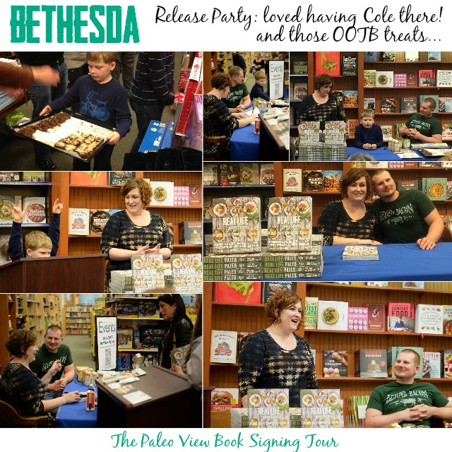 TPV Book Tour in Bethesda, MD with Paleo Parents Collage