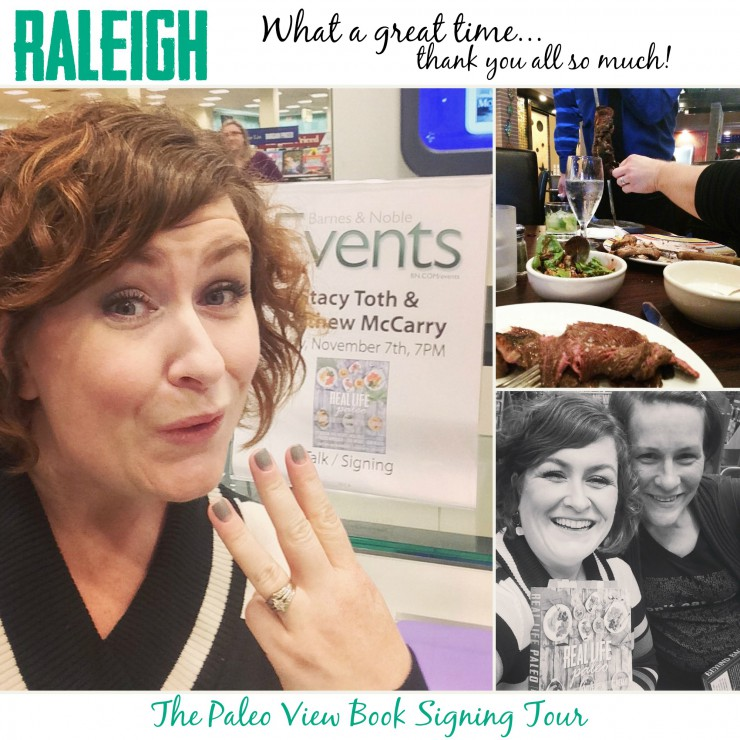 TPV Book Tour in Raleigh NC with Paleo Parents Collage