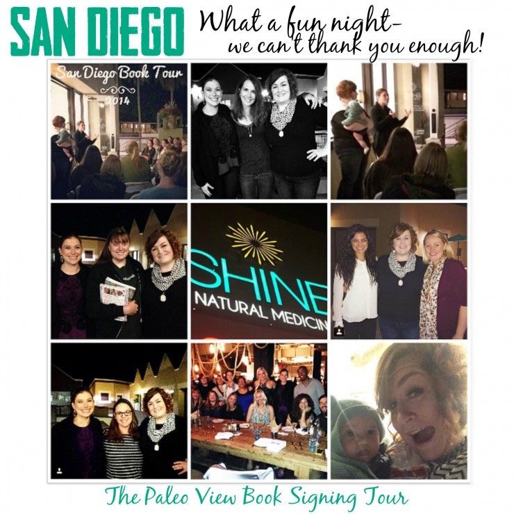 TPV Book Tour in San Diego CA with Paleo Parents Collage