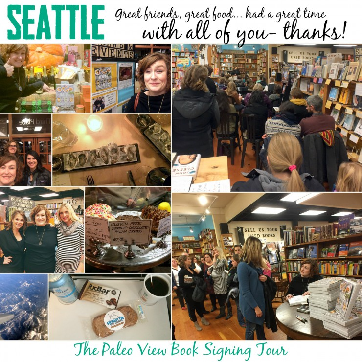 TPV Book Tour in Seattle WA with Paleo Parents Collage