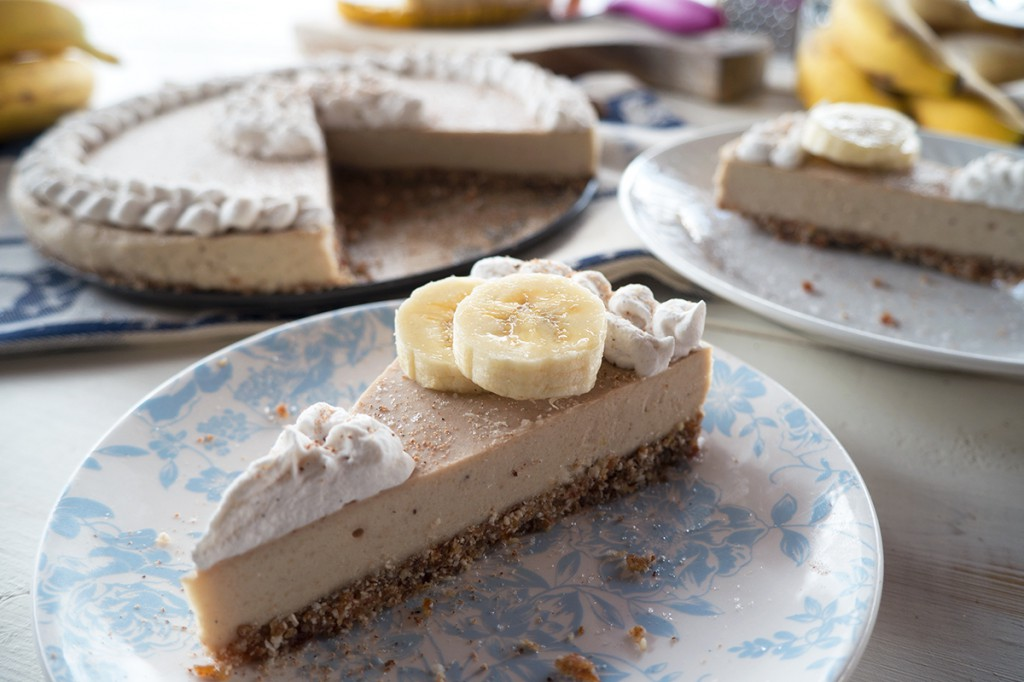 Raw Paleo Banana Cream Cheesecake by Merit + Fork, as seen on The Cheesecake Factory Recipe Recreation Round-Up by the Paleo Parents