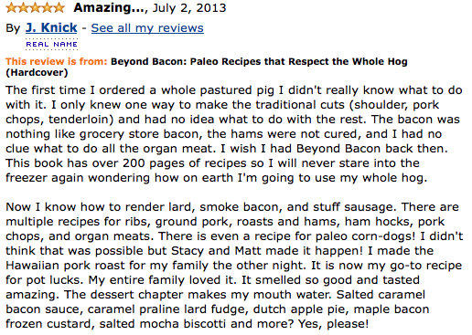 Beyond Bacon Amazon Review, Paleo Parents Weekend Wrap Up, 3/15: GIVEAWAY, CRAZY COUPONS, An ANNOUNCEMENT And WHAT Cole Is Cooking!