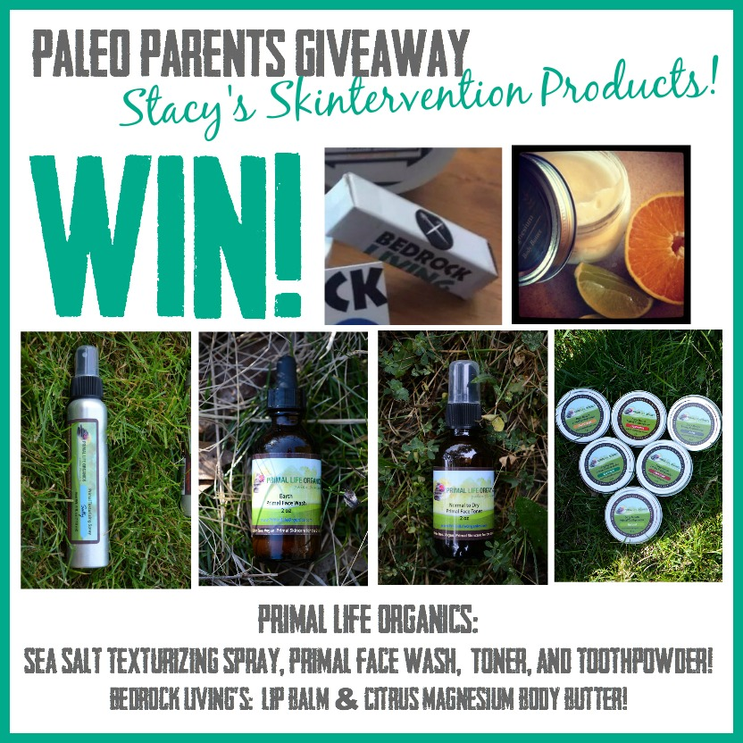 Win Paleo Natural Beauty Products! Natural Beauty & Hygiene AKA Skintervention 2.0 as seen on PaleoParents.com