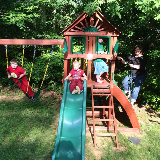 Boys new playground. Paleo Parents Weekend Wrap Up 5.24: Finn Ate The WORST Foods In The World!