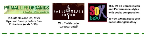 Discounts Savings coupon codes, Paleo parents weekend wrap up 5/9: Flippin' WHAT?! Plus, PERFECT Warm Weather Recipes!