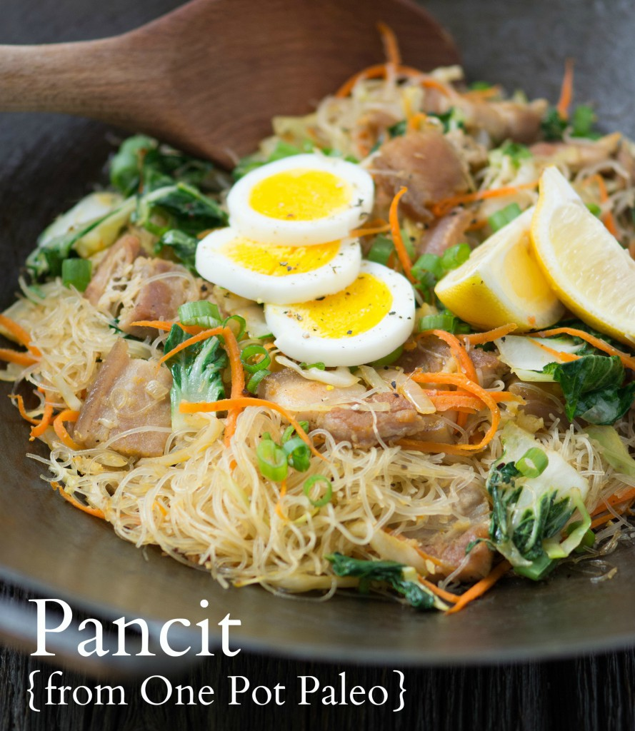 Pancit from One Pot Paleo, One-Pot Paleo's Pork Pancit (Stir Fry Noodles) and a SIGNED COPY for you!