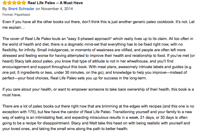 Real Life Paleo amazon review. Paleo Parents Weekend Wrap Up 6.7: No Bake Treats And No Cook Eats For Warm Summer Days!