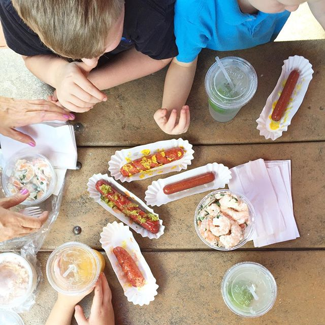 Eastern market paleo hot dogs shrimp salad, Mommy date, The BEST Chocolate Chip Cookies, Board Games And All Things BOYS: Paleo Parents Weekend Wrap Up