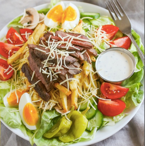 Cheeseburger Stacks Salads from Salads without grain by Paleo Parents