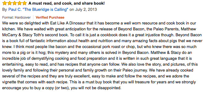 Beyond Bacon review, Paleo Parents: What We REALLY Eat: A look at our un-glamorous food!