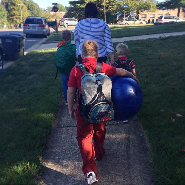 Walk to first day of school