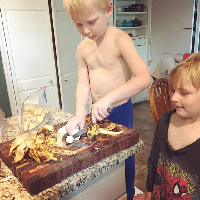 Boys baking, Paleo Parents: What We REALLY Eat: A look at our un-glamorous food!