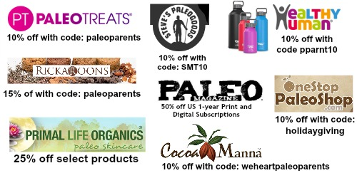 Paleo Discounts and Coupon Codes Left December 2015: Make an INCREDIBLE Paleo Holiday Dinner! Paleo Parents
