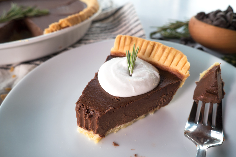 Paleo Parents Guest Post: Salted-Chocolate Rosemary Tart, Merit + Fork