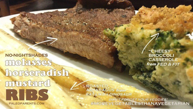 Molasses Mustard Ribs and Veggies Feature Image on PaleoParents
