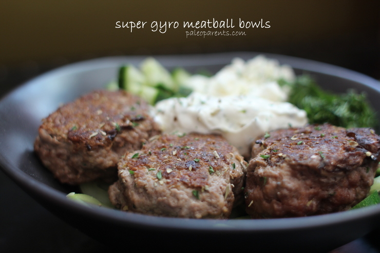 Super Gyro Meatball Bowls by Paleo Parents