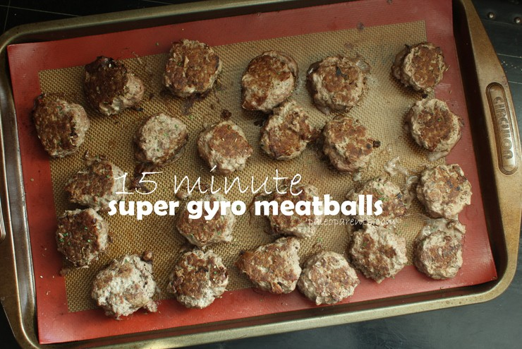 Super Gyro Meatballs by Paleo Parents