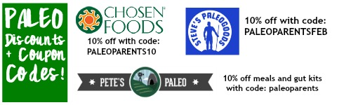 Paleo Discounts coupon codes Feb 2016 2.7 TL