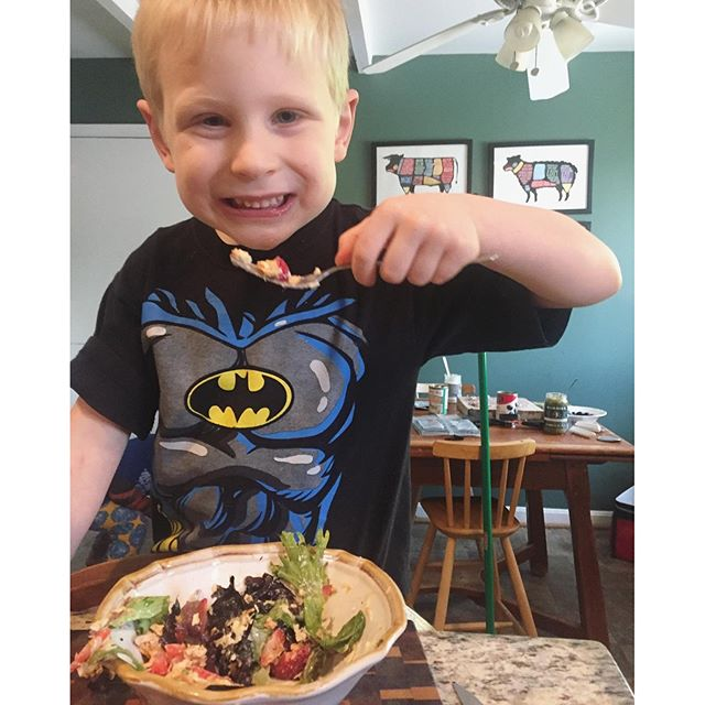 Wes eating salad, Dates: Our Favorite Paleo Sweetener! Plus Fruit-Sweetened Recipes! Paleo Parents