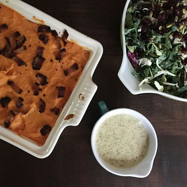 paleo four layer casserole and kale salad, Crustless Quiche Recipe from Paleo Eats plus our Weekly Family Meal Plan | Paleo Parents