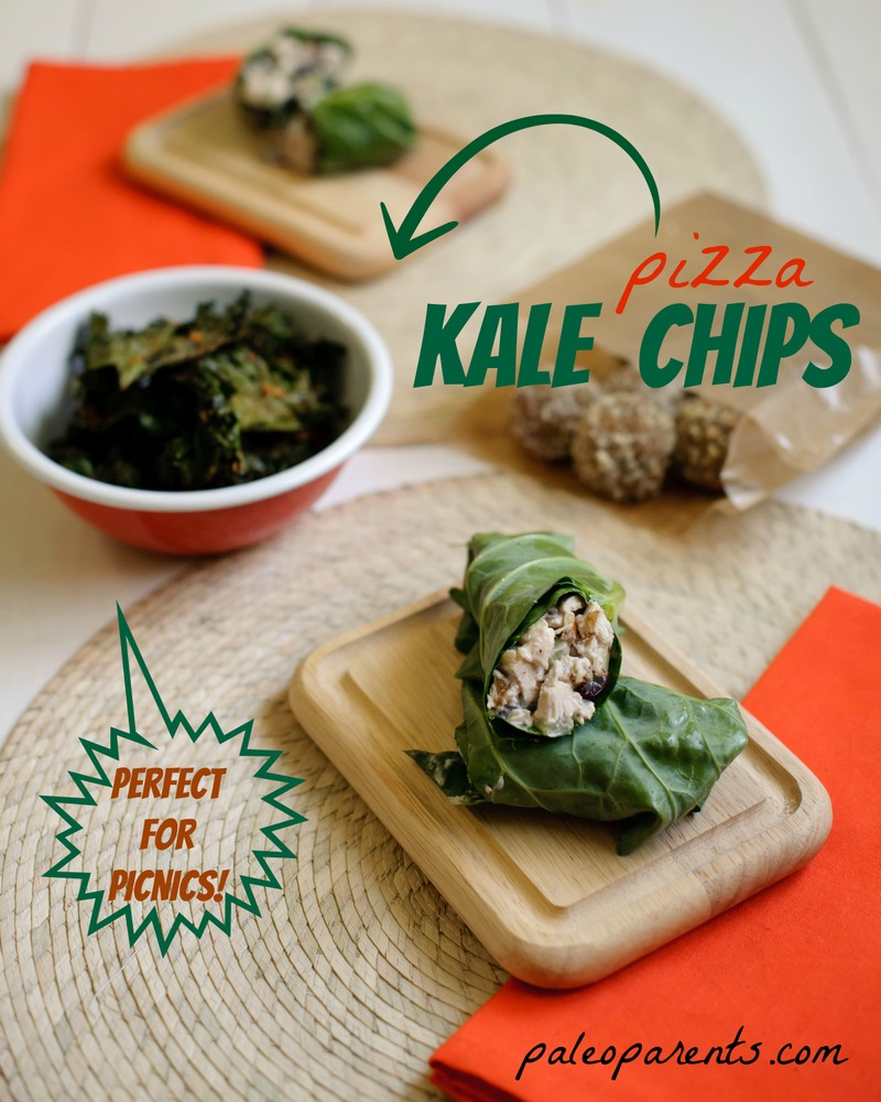 Pizza Kale Chips, Lunch box ideas to start the school year off right! | Paleo Parents