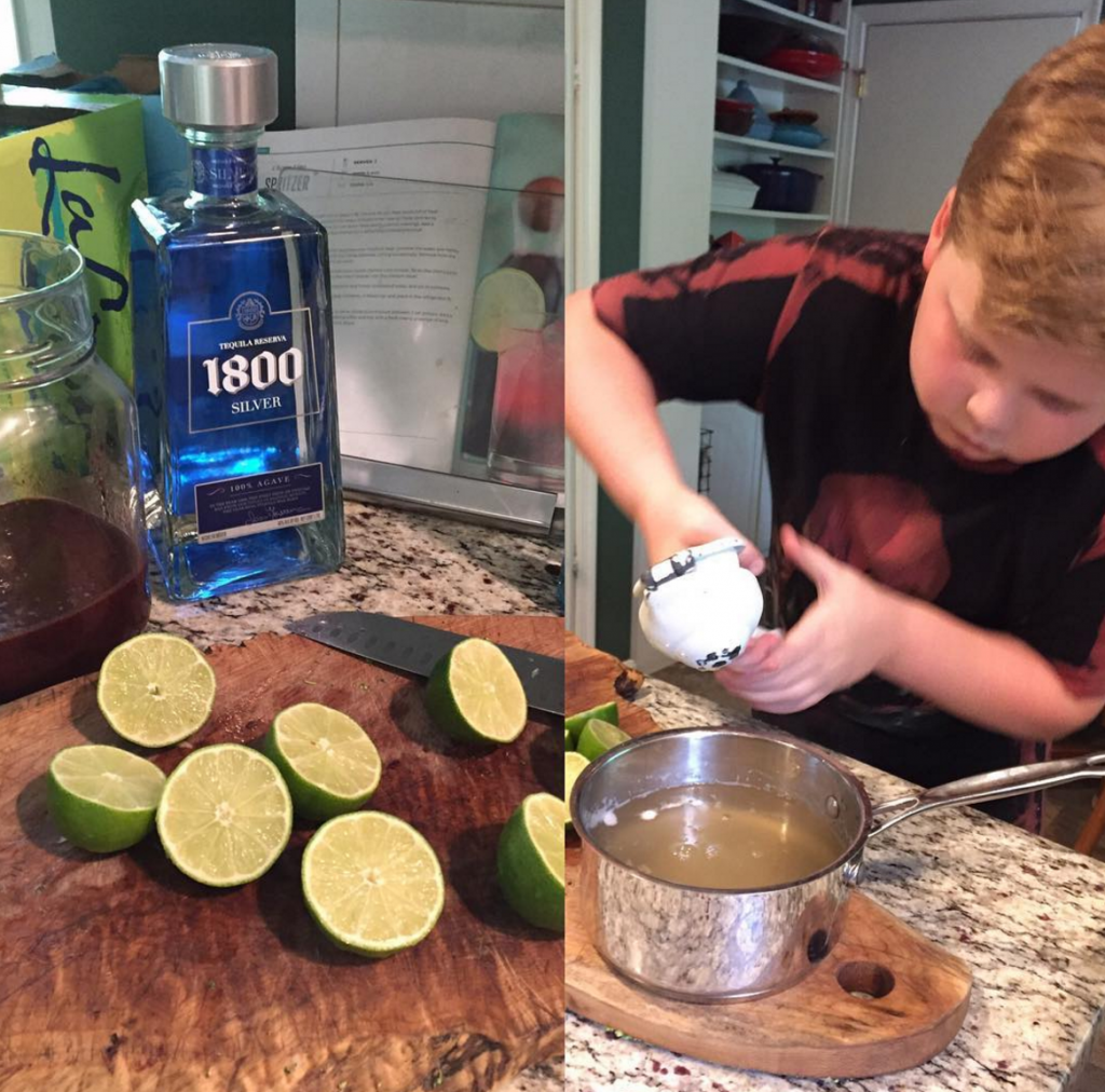 Cole squeezing limes, How to Throw a PALEO Summer Barbecue Party! | Paleo Parents