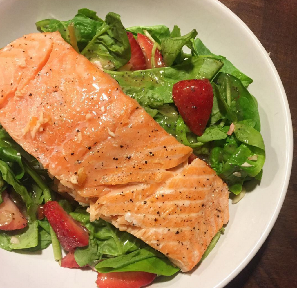 strawberry salmon salad, Our Weekly Family Meal Plan from Danielle Walker's Celebrations | Paleo Parents